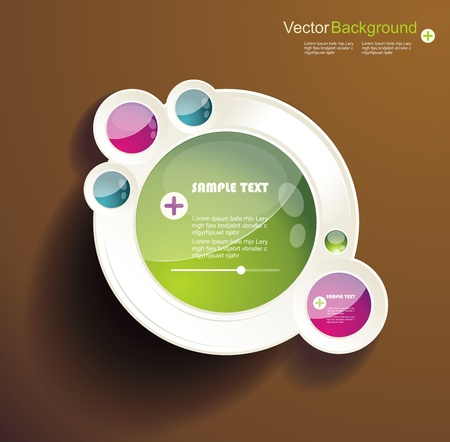 Abstract 3d circles background design Stock Vector - 19246521