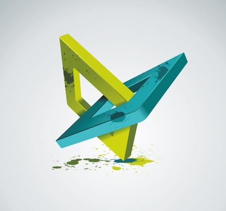 firme: Ilustración con ortogonales rombo símbolos Unidad concepto Vector Vectores