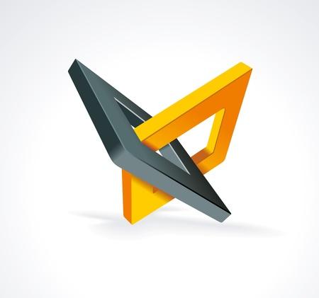 Illustration mit orthogonal Raute Symbole Unity Konzept Vektor Illustration
