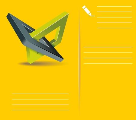 orthogonal: Brochure design  with orthogonal rhomb symbols