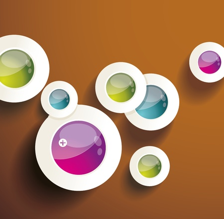 Eps10 Vector Abstract Circles infographics Stock Vector - 19332732