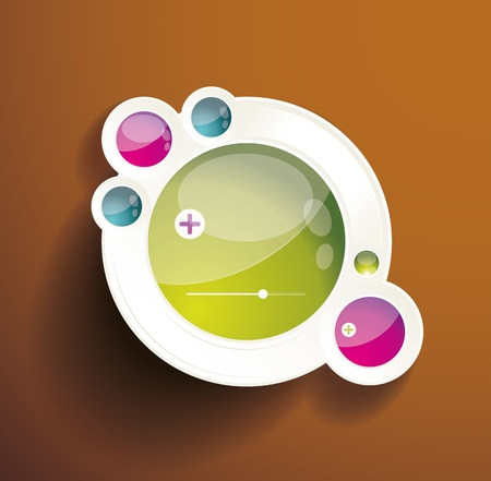Abstract 3d circles background design Stock Vector - 19332730