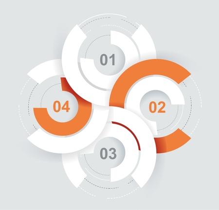 Résumé Infographie 3D de papier