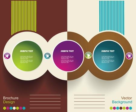 Werbung Broschüre Design-Vorlage, Vektor.