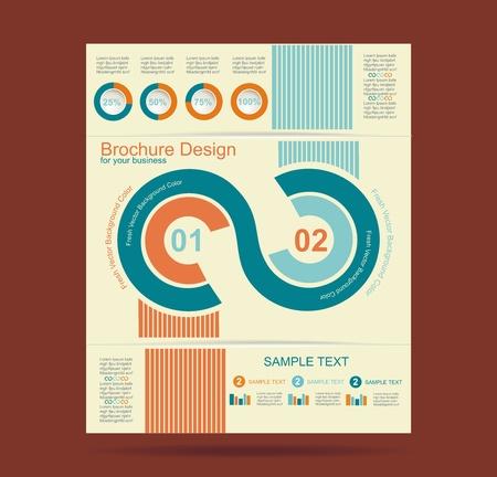 Advertising brochure design template, vector.  Stock Vector - 19430507