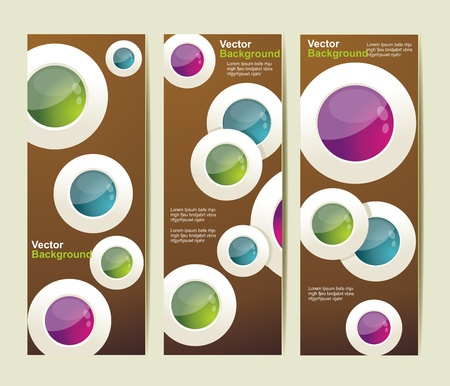 Set of the  abstract banners. Vector