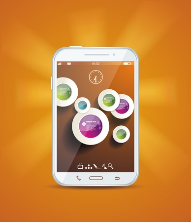 Touchscreen smartphone  Stock Vector - 19430511