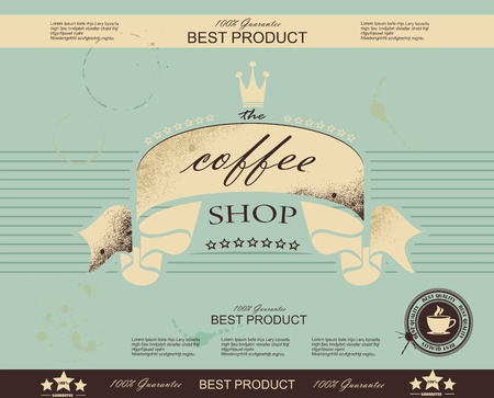 coffee company: Retro Vintage Coffee Background with Typography
