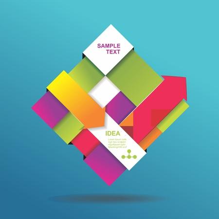 cubo: Fondo abstracto 3D se puede utilizar para infograf�as banderas numeradas