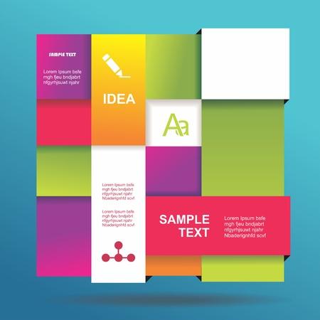 インフォ グラフィック段落番号バナーにモダンなデザインのテンプレートを使用できます。  イラスト・ベクター素材