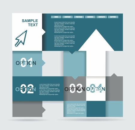 Modern Design template  Can be used for infographics  Numbered banners