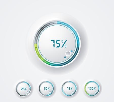 percent sign: Round progress bar preloader