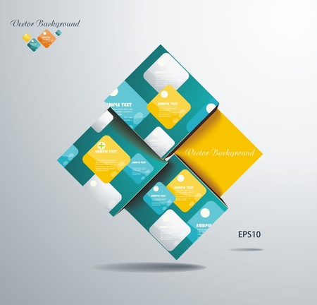 Abstract Square Background Stock Vector - 20142371