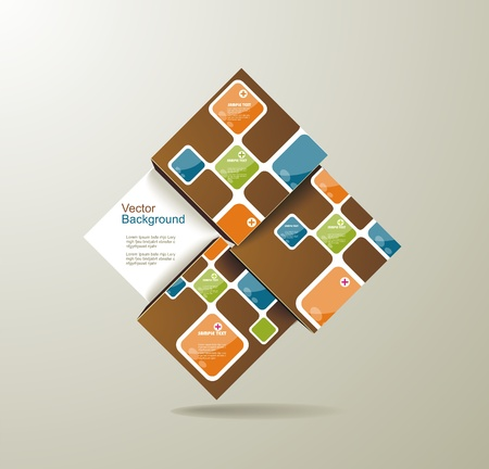 Abstract Square Background Stock Vector - 20142367