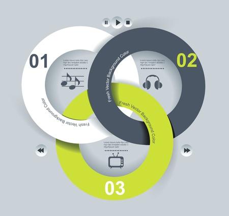 Benutzeroberflächen-Vorlage Vektor-Illustration