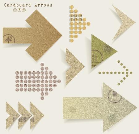 Vintage old paper  arrows Stock Vector - 20334082