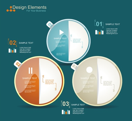 Modern business circle style options banner  Vector illustration  Vector