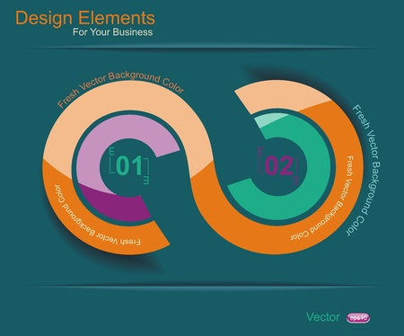 Abstract 3D Paper Infographics Stock Vector - 20440558