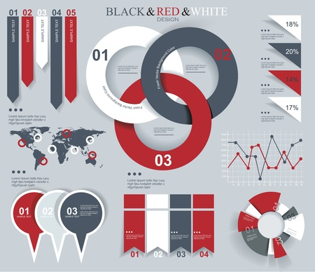 Modern Design template for infographics numbered banners graphic or website layout vector Stock Vector - 20440571