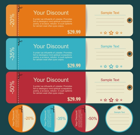 Vintage Labels template set  Sale, discount theme  Retro logo template design  Stock Vector - 20440567