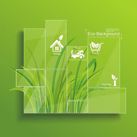 Medio Ambiente concepto Hierba tras el cristal