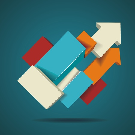 Abstract distortion from arrow shape background Vector