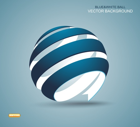 Abstract sphere made from colorful stripes Illustration
