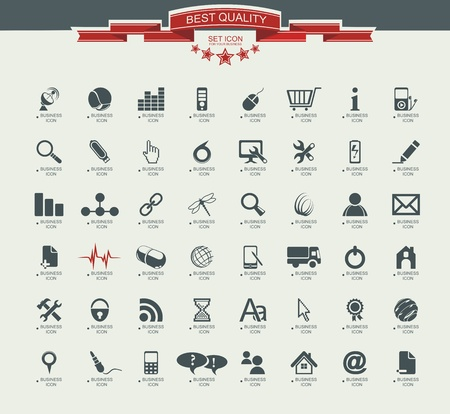 Quality icon Set (Service, Medical, Media, Mail, Mobile, ,Web , Camping icons, Butterfly)  Vector