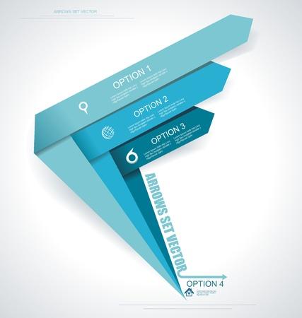 Establecer flechas vectoriales. Infografía mínimo. Ilustración de vector