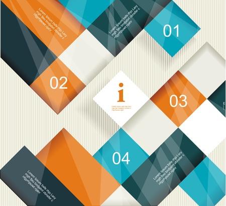 Modernes Design Template kann für Infografiken, nummeriert Zellen, Ausschnitt Linien, website desing Elemente verwendet werden