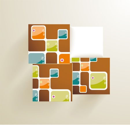 Vector illustration of 3d cubes, can use for infographics or webpage. Stock Vector - 21234154