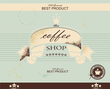 barista: Retro Vintage Coffee Background with Typography