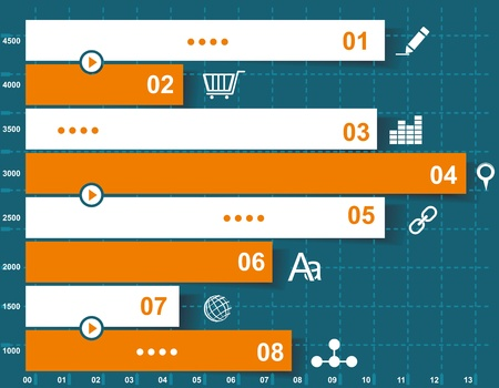 Modern Design template for infographics numbered banners graphic or website layout vector  Vector
