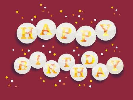 imperfections: Vintage Birthday Card - Vector