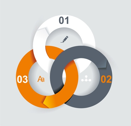 Business Abstract Circle icon. Corporate, Media, Technology styles vector logo design template.  Vector