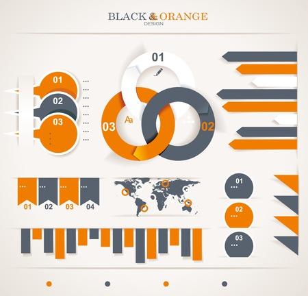 Retro Infografiken gesetzt. Weltkarte und Infografiken.