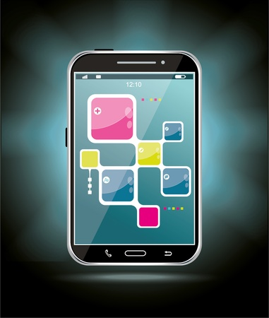 Touchscreen smartphone Stock Vector - 21234657