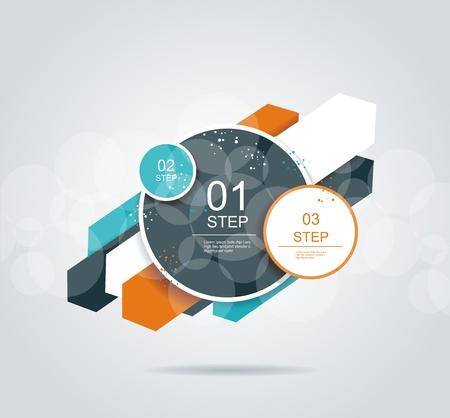 Moderne Pfeil und Kreise Optionen Banner. Ccan für Infografiken, Workflow-Layout, Grafik, Schritt Möglichkeiten, Web-Design verwendet werden. Standard-Bild - 21504320