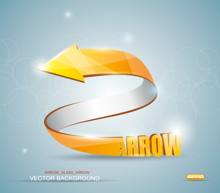 top pointer: Gold Arrow. Vector Symbol.