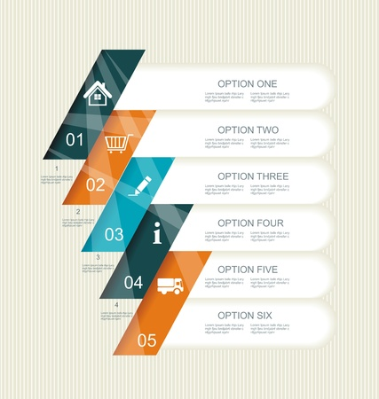 Modern step options banner. Can be used for workflow layout, diagram, number options, step up options, web template, infographics.