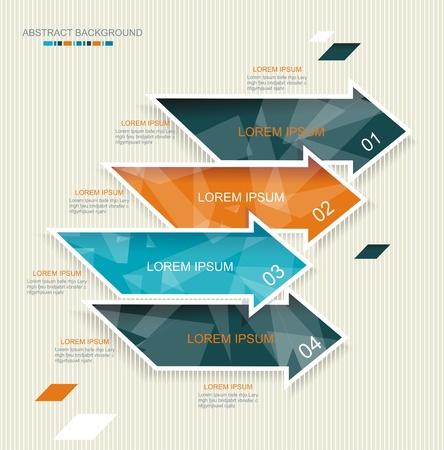 Moderne Pfeile Vorlage Design. Kann für Workflow-Layout, Grafik, Anzahl Optionen, step up Optionen, Web-Design, Banner-Vorlage verwendet werden. Illustration