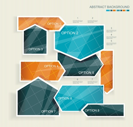 web layout: Abstract background with colorful arrows.  Illustration