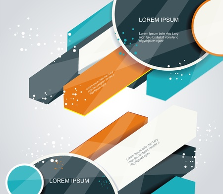 Vector abstract arrows background illustration Vector