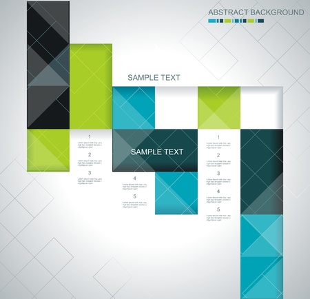 Vector abstract squares background illustration Vector