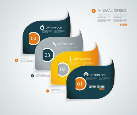 Modern infographics template style. Vector