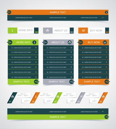 Web site design element.  Vector