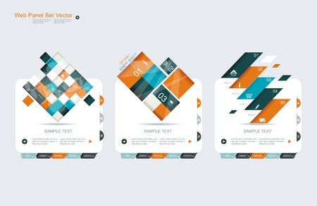 log in: Abstract vector banners set