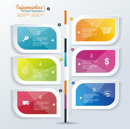 Moderne Sprechblase Template Design. Kann für Workflow-Layout verwendet werden, Diagramm, Anzahl Optionen, step up Optionen, Web-Design, Banner-Vorlage; Infografik.
