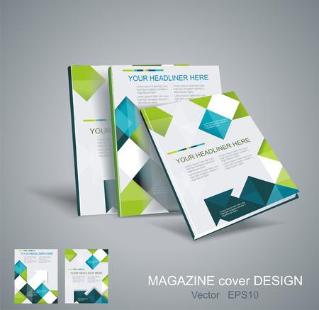Vector brochure template design met blokjes en pijlen elementen. EPS 10 Stock Illustratie