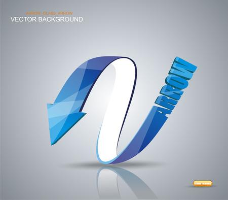 flecha azul: Blue Arrow. S�mbolo Vector. Vectores